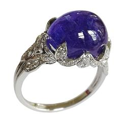 Dalben Tanzanite Diamond Gold Ring