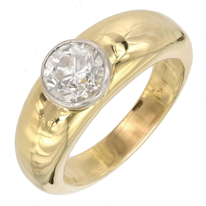 men s bezel heavy gold platinum ring for sale at