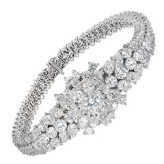 Blancpain Lady's Platinum Diamond Covered Wristwatch