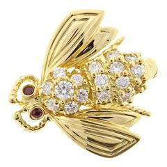 Tiffany & Co. Diamond Gold Bee Brooch