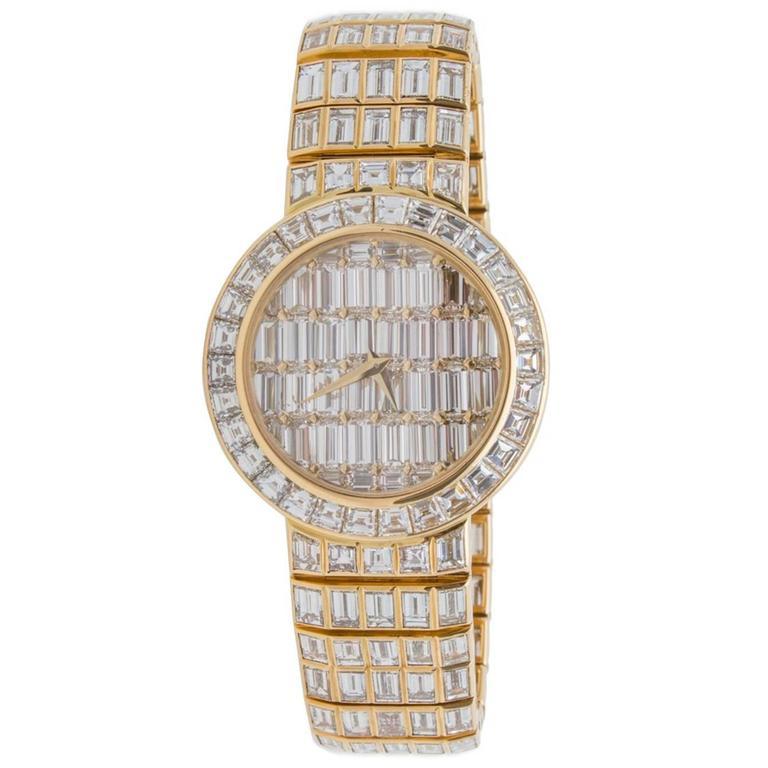 Vacheron Constantin Yellow Gold Diamond Kalla Pagode No 1 Wristwatch