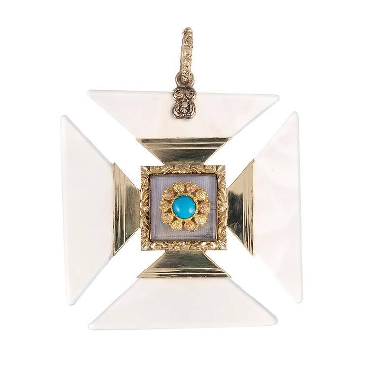 Georgian chalcedony two color gold maltese cross pendant for sale at georgian chalcedony two color gold maltese cross pendant for sale aloadofball Image collections