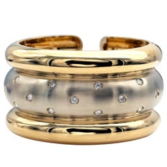 Diamonds 18KT Gold Cuff Bracelet