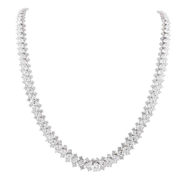 Oscar Heyman Oval and Round Brilliant Cut Diamond Necklace