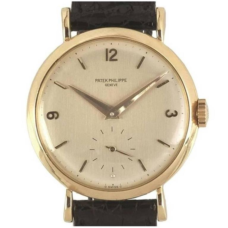Patek Philippe Yellow Gold Calatrava Wristwatch Ref 2459