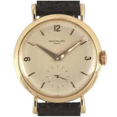 Patek Philippe Yellow Gold Calatrava Wristwatch Ref 2459, 1951
