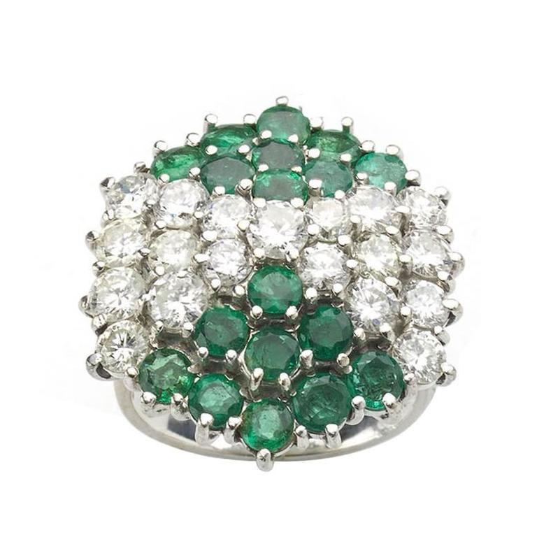 emerald gold dress ring at 1stdibs