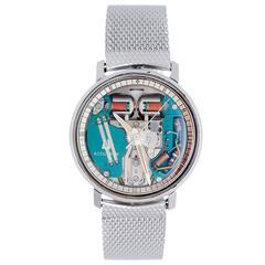 Bulova Stainless Steel Accutron Spaceview Backset Quartz Wristwatch
