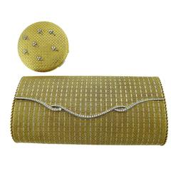 Diamond Gold Evening Bag and Make-Up Compact