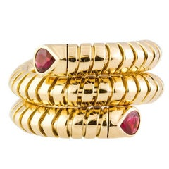 Marina B. Ruby and Gold Flexible Coil Ring