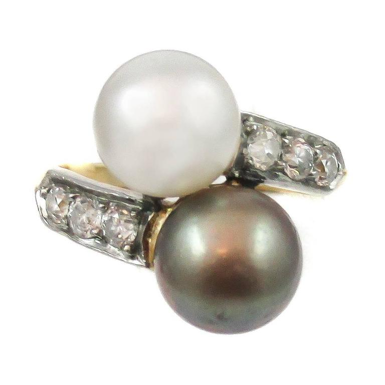 Tiffany & Co. Edwardian Twin Natural Pearl Ring