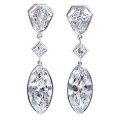 Platinum Dangle Earrings