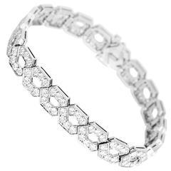 Tiffany & Co. Stunning Diamond Platinum Link Bracelet