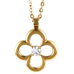 Van Cleef & Arpels Diamond Gold Pendant Necklace