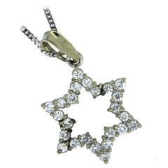 Diamond Gold Star Pendant