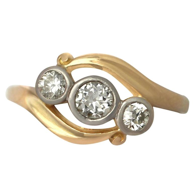 1930s Diamond and Yellow Gold Cocktail Ring