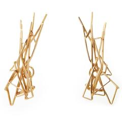 1970s Jean Vendome Gold Clip Earrings