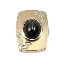 Gauthier Star Sapphire Diamond Gold Pendant
