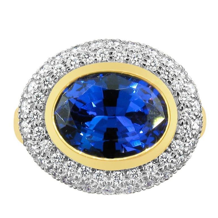 richard krementz tanzanite gold platinum ring at