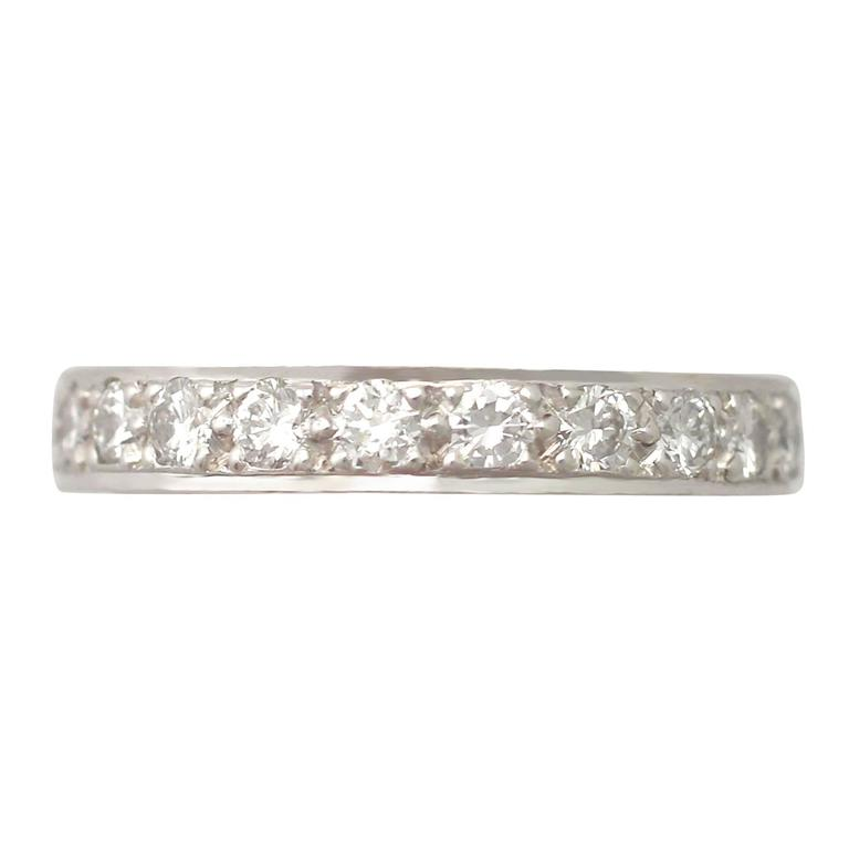 0.84Ct Diamond and 18k White Gold Full Eternity Ring - Contemporary 2002