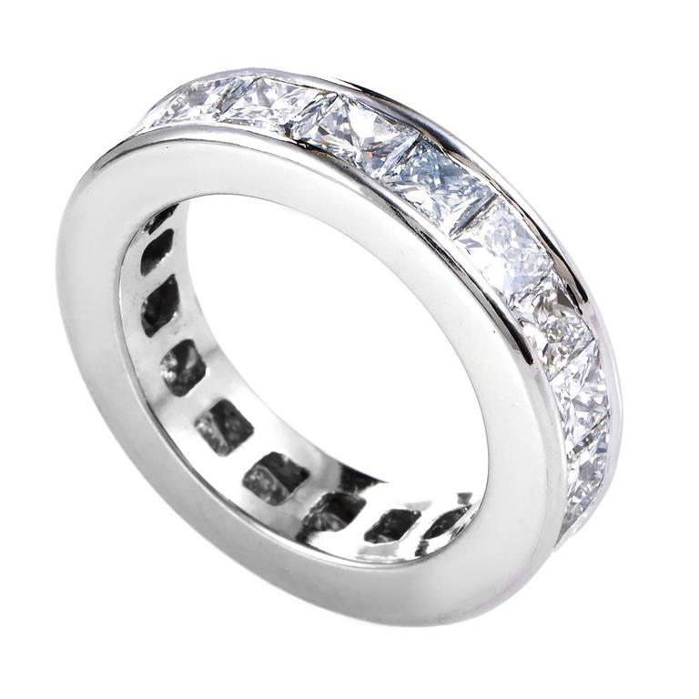 invisibly set platinum eternity band ring at 1stdibs