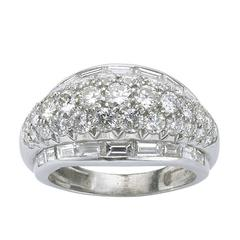 1940s Diamond Platinum Band Ring