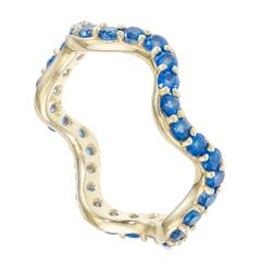 Sabine Getty Blue Topaz Wiggly Band Ring
