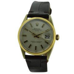 Rolex Stainless Steel Gilt Oyster Perpetual Original Dial Automatic Wristwatch