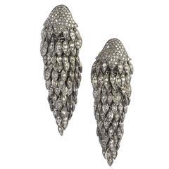 Diamond Fringe Drop Earrings