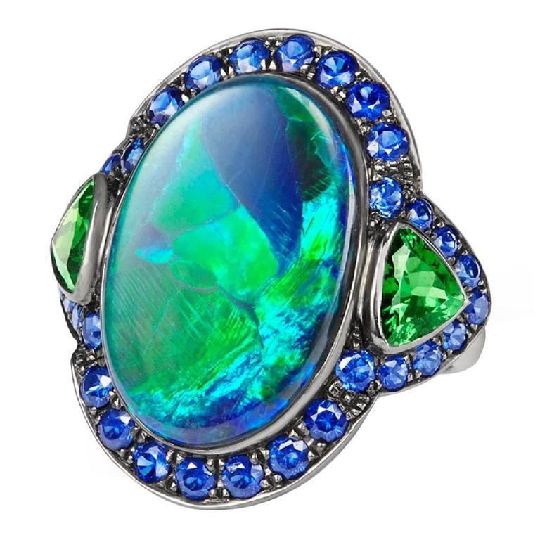 image n black bluegreen sapphire opal ring blue p green purple c