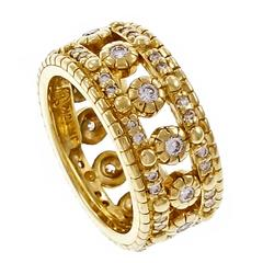 Judith Ripka Diamond Gold Eternity Ring