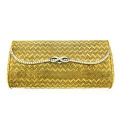 1960s Van Cleef & Arpels Diamond Gold Minaudière