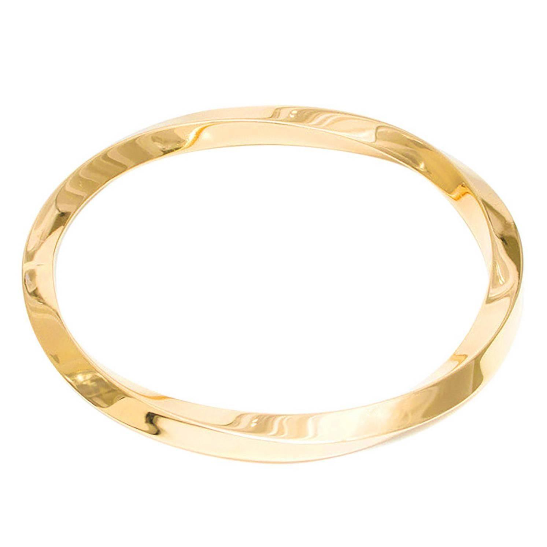 Tiffany & Co Gold Slip On Twist Bangle Bracelet