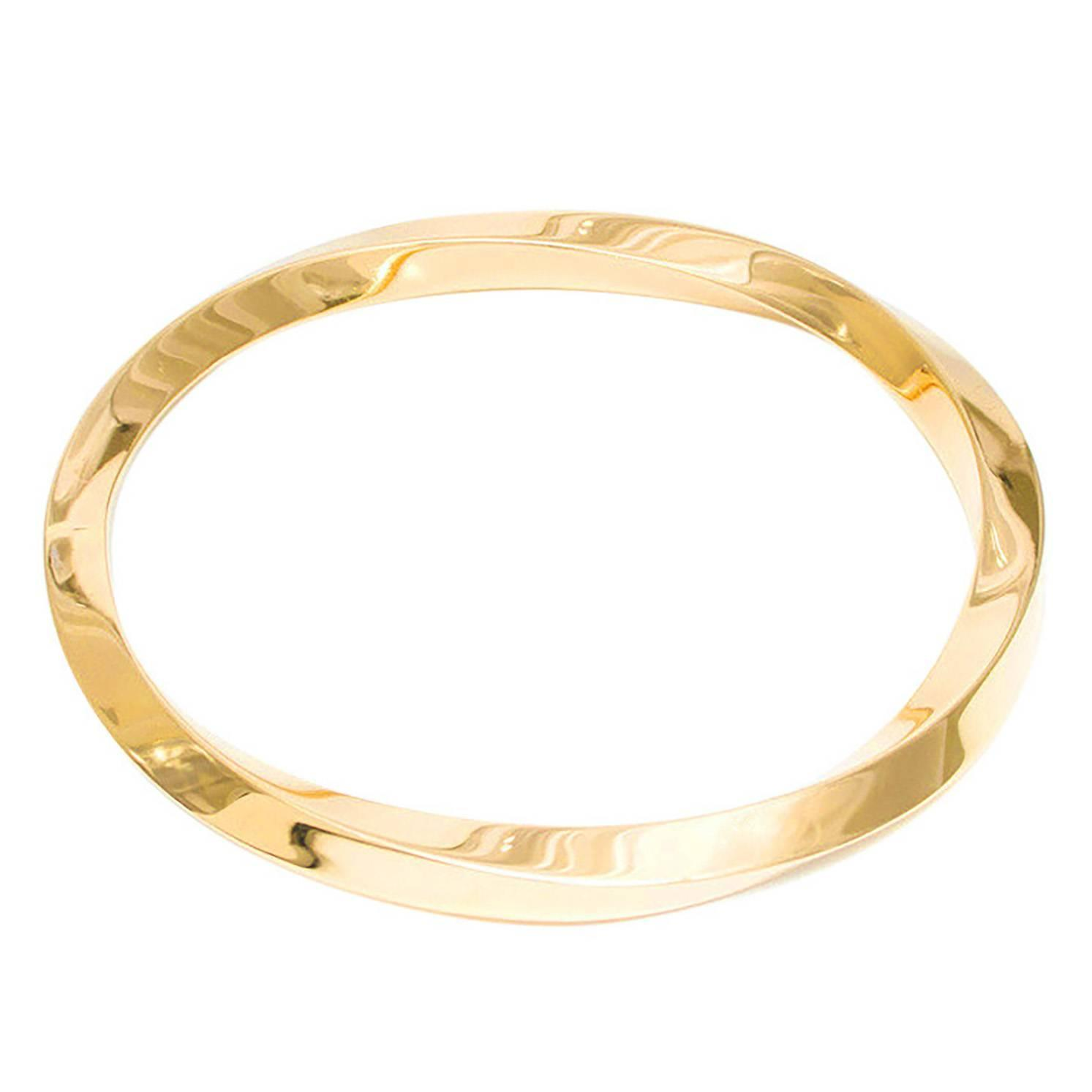 kilo bangles link cuban gold solid bracelet half miami bangle