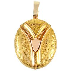 Whimsical Antique Victorian Gold Locket
