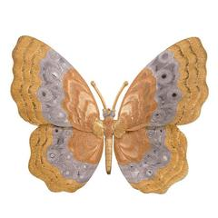 Buccellati Tricolor Gold Butterfly Brooch