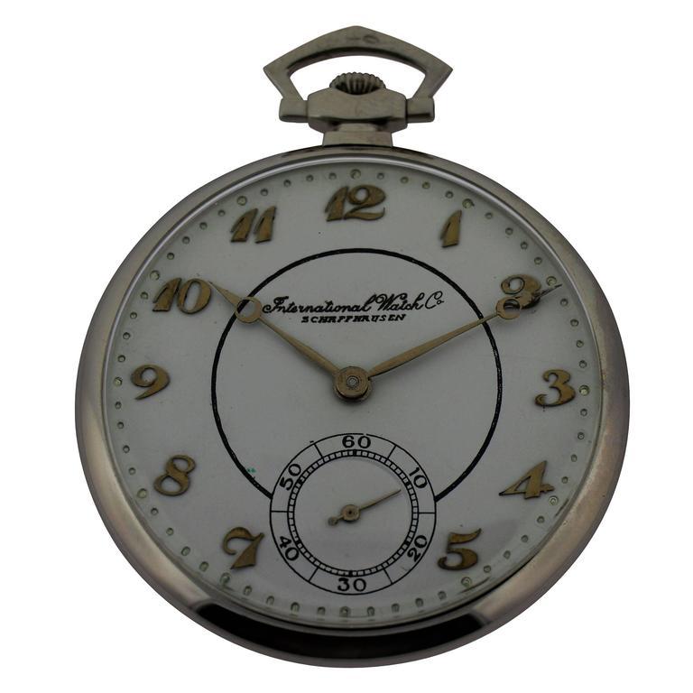 International Watch Company Platinum Tuxedo Pocket Watch 1