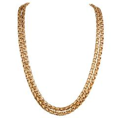 Tiffany & Co. 40 Inch Braided Gold Chain