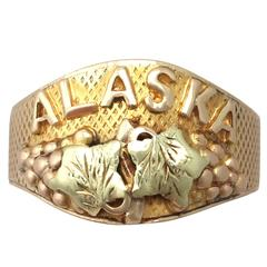 1950s Black Hills Gold Alaska Ring