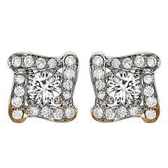 Brilliant Diamond Platinum Chandelier Earrings For Sale At