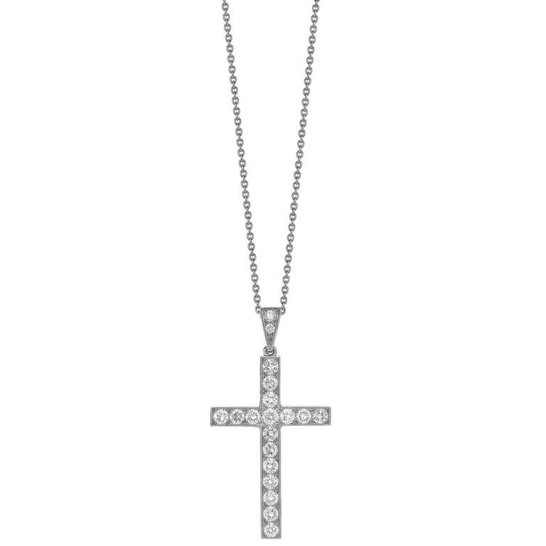 Platinum Diamond Cross Pendant