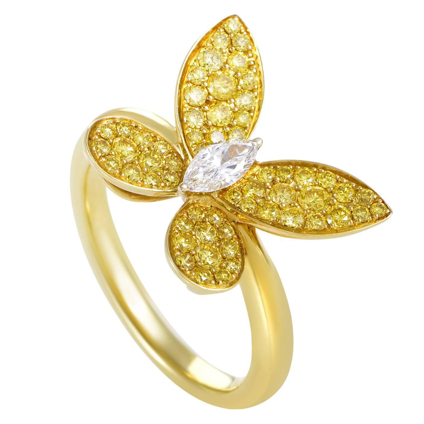 gw baunat en butterfly rings red design diamond rood in gold bf ring carat