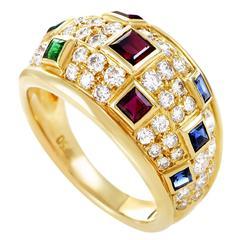 Piaget Precious Gemstone Diamond Gold Band Ring
