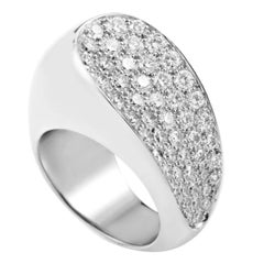 Fred of Paris Partial Diamond Pave Gold Ring
