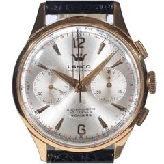 Lanco Yellow Gold Chronographe Antimagnetic Wristwatch
