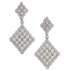7.55 Carat Double Diamond Drop Earrings