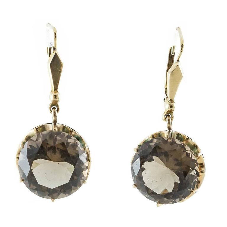 com earrings estate rose zimmerbrothers gold quartz