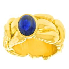 Bold Loco d'oro Sapphire and Gold Ring