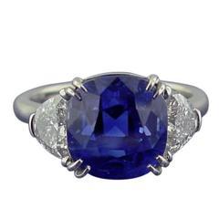 Burma 8.82 carat Sapphire  Diamond Ring