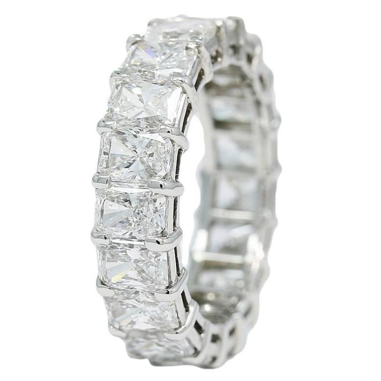 Chopard 7.50 Carats Diamonds Platinum Eternity Band Ring For Sale